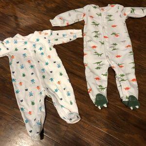 Carter's footie pajama sleepers dinosaurs monsters